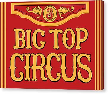 Big Top Circus Canvas Print by Kristin Elmquist