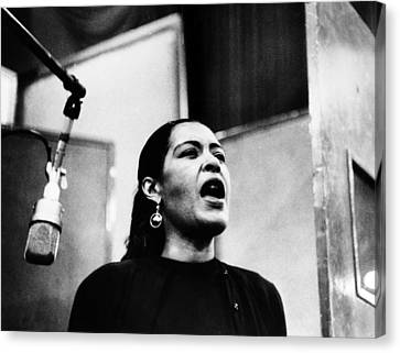 Billie Holiday (1915-1959) Canvas Print by Granger