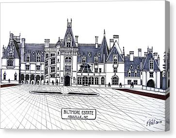 Biltmore Estate Canvas Print by Frederic Kohli