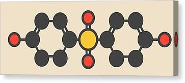 Bisphenol Molecule Canvas Print by Molekuul