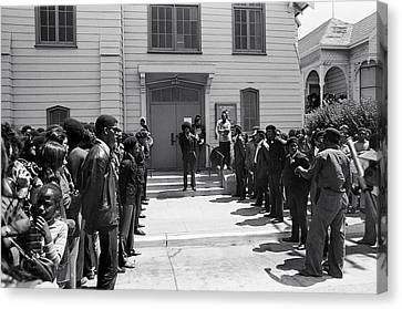 Black Panther Party Canvas Print - Black Panther Funeral by Underwood Archives