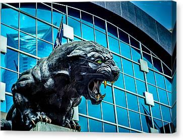 Black Panther Statue Canvas Print by Alex Grichenko
