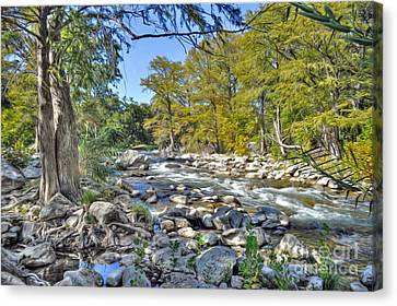 Guadalupe River Canvas Print by Savannah Gibbs
