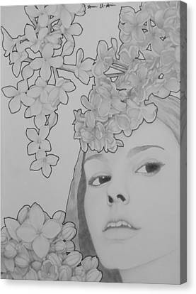 Blooming Girl Lilac  Canvas Print by Aaron El-Amin