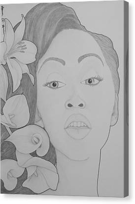 Blooming Girl Lily 2  Canvas Print by Aaron El-Amin