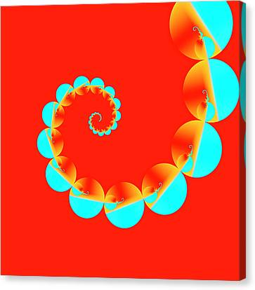Blue And Red Pattern Canvas Print