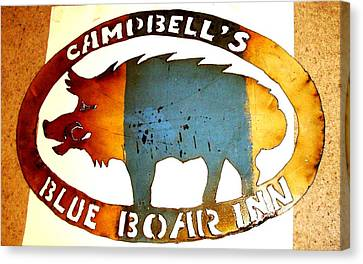Canvas Print featuring the photograph Blue Boar Inn by Larry Campbell
