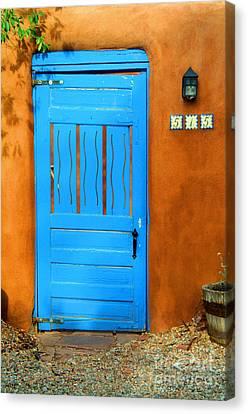Blue Door In Santa Fe Canvas Print