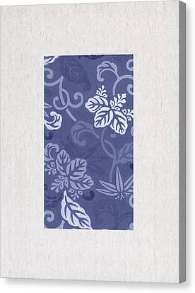 Blue Flowers Canvas Print by Aged Pixel
