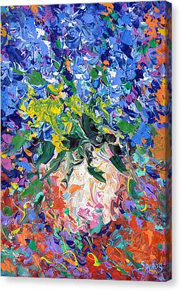Blue Flowers Canvas Print by Dmitry Spiros