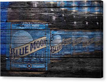 Handcrafted Canvas Print - Blue Moon by Joe Hamilton