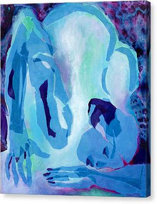 Canvas Print - Blue Nude by Diane Fine