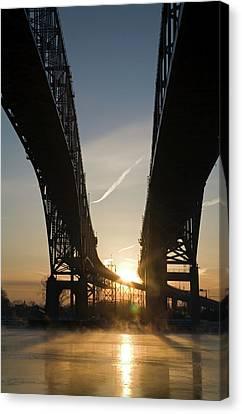 Blue Water Bridge Canvas Print by Jim West