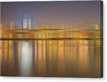 Blurred Abstract City Skyline Colorful Background Canvas Print by Matthew Gibson