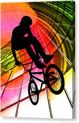Bmx In Lines And Circles Canvas Print