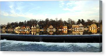 Boathouse Row Canvas Print by Andrew Dinh