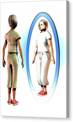Body Dysmorphia Canvas Print by Carol & Mike Werner