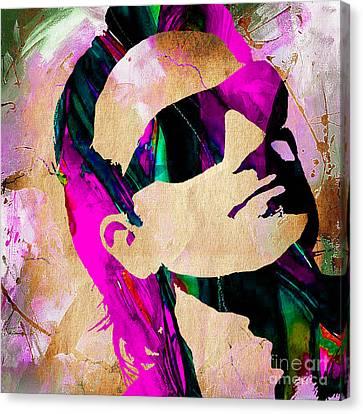 Bono U2 Canvas Print by Marvin Blaine