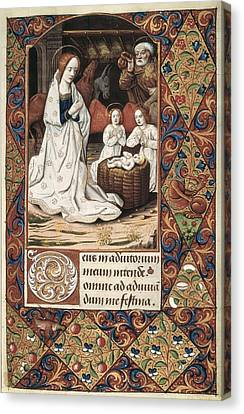 Book Of Hours For Charles V. 16th C Canvas Print