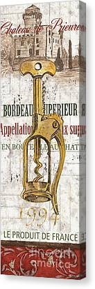 Bordeaux Blanc 2 Canvas Print by Debbie DeWitt