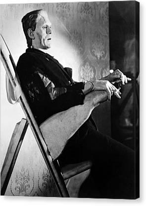 Boris Karloff In Frankenstein  Canvas Print by Silver Screen
