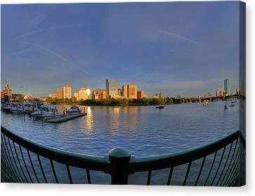 Boston Skyline From Memorial Drive Canvas Print by Joann Vitali
