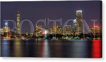 Boston Skyline Poster Canvas Print by Joann Vitali
