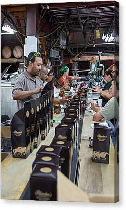 Bourbon Bottling Production Line Canvas Print by Jim West