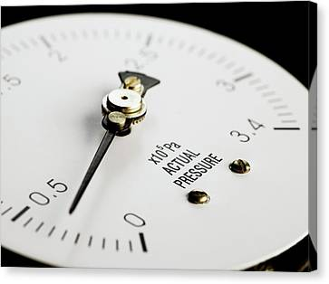 Bourdon Pressure Gauge Canvas Print by Science Photo Library