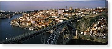 Bridge Across A River, Dom Luis I Canvas Print by Panoramic Images