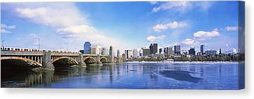 Bridge Across A River, Longfellow Canvas Print by Panoramic Images
