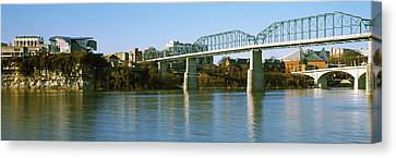 Bridge Across A River, Walnut Street Canvas Print by Panoramic Images