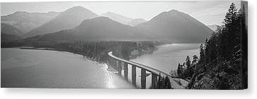 Bridge Over Sylvenstein Lake, Bavaria Canvas Print by Panoramic Images