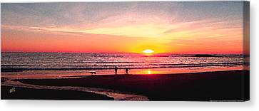 Bright Sunset Canvas Print by Ben and Raisa Gertsberg