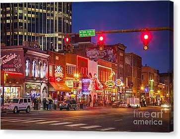 Broadway Street Nashville Canvas Print by Brian Jannsen