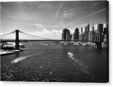 Brooklyn Bridge Infrared Canvas Print by Dave Beckerman