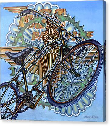 Canvas Print featuring the painting Bsa Parabike by Mark Howard Jones