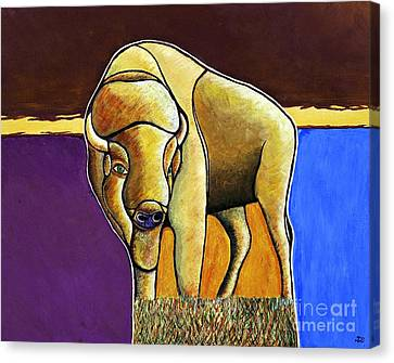 Canvas Print featuring the painting Buffalo 1 by Joseph J Stevens