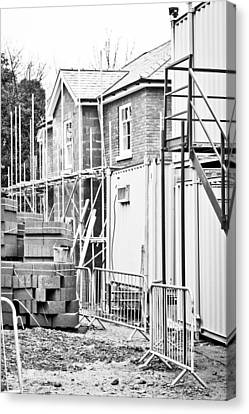Building Site Canvas Print by Tom Gowanlock