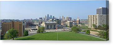 Buildings In A City, Kansas City Canvas Print by Panoramic Images