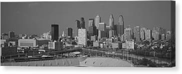 Buildings In A City, Philadelphia Canvas Print by Panoramic Images