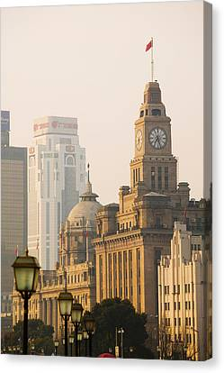 Bund Shanghai Canvas Print - Buildings In A City, The Bund by Panoramic Images