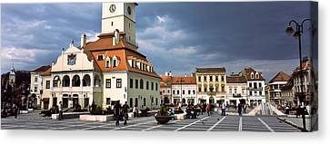 Buildings In A City, Town Center Canvas Print