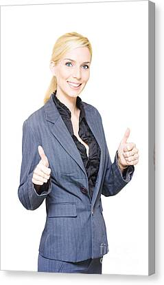 Business Deal Canvas Print by Jorgo Photography - Wall Art Gallery