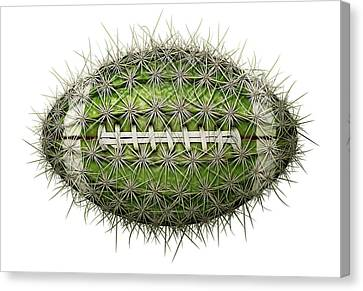 Cactus Football Canvas Print by James Larkin