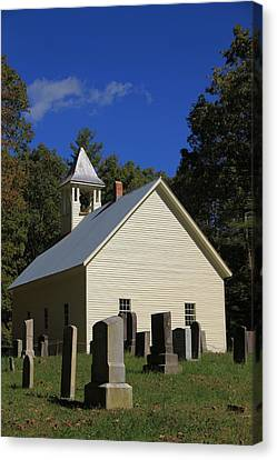 Cades Cove Primitive Baptist Church Canvas Print by Dan Sproul
