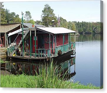 Cajun Houseboat Canvas Print