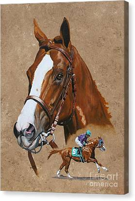Horse Racing Canvas Print - California Chrome by Pat DeLong