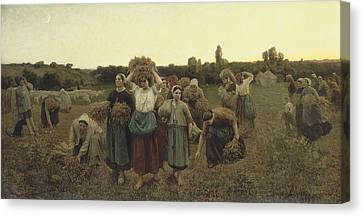 The Gleaners Canvas Print - Calling In The Gleaners by Celestial Images
