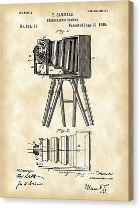 Camera Patent 1885 - Vintage Canvas Print by Stephen Younts